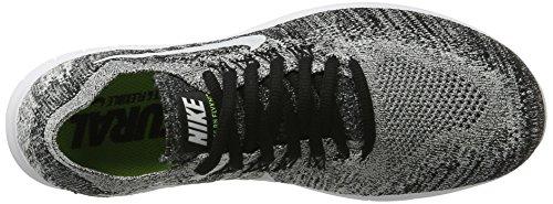 Nike Womens Free RN Flyknit 2017 Running Shoes Black/Volt/White...
