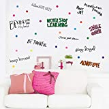 PARLAIM Large Inspirational Wall Decals Motivational Phrases Sticker Wall Decals Removable for Kids Home Decoration Living Room Bedroom, Positive Sayings Decor Class & Office