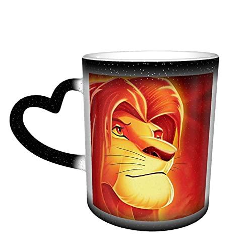 Simba Lion King - Taza de té de cerámica con texto en inglés 'Rey León'