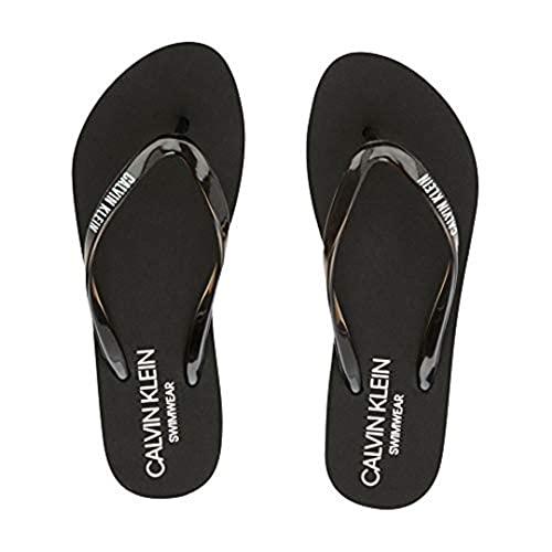 Calvin Klein Jeans Sandal Chanclas Mujer KW0KW01374 BEH PVH Black Negro Size: 37/38 EU
