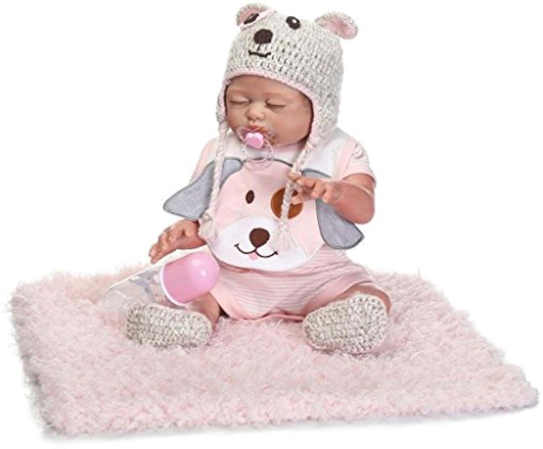 TERABITHIA 20inch Alive Gentle Touch Silicone Full Body Sleepy Reborn Baby Girl Dolls Washable