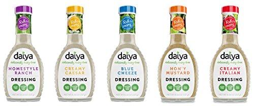 Daiya Salad Dressing 5 Flavor Variety Pack, Dairy Free :: Homestyle Ranch, Creamy Caesar, Blue Cheeze, Hon