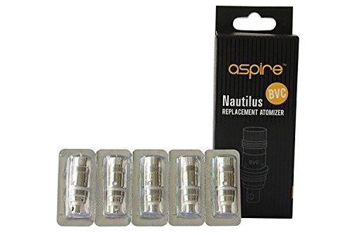 Autentico Aspire Nautilus e Nautilus Mini BVC Resistenza 1,8 Ohm 5 pezzi per confezione Non Nicotina