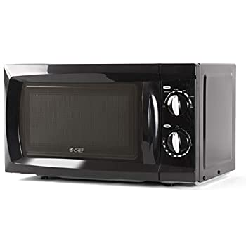Commercial Chef Countertop Microwave Oven 0.6 Cu Ft Black