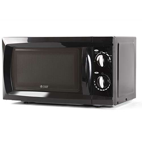 Commercial Chef CHM660B Countertop Small Microwave Oven, 0.6 Cubic Feet, Black