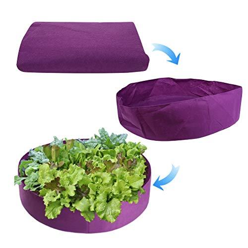 iFCOW Bolsa de Cultivo de Plantas Bolsa de Cultivo de Plantas de Fieltro Bolsa de Contenedor de Plantación de Flores Vegetales para Balcón Jardín Púrpura