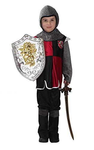 Costume Guerriero Medievale Bambini Carnevale Halloween Cosplay Taglia M 110 120 cm Idea regalo per le feste