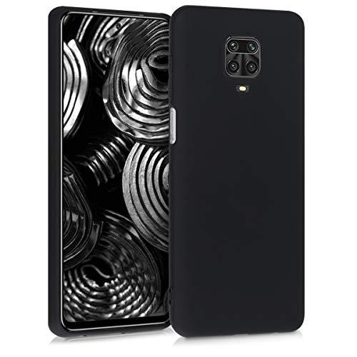 kwmobile Funda Compatible con Xiaomi Redmi Note 9S / 9 Pro / 9 Pro MAX - Carcasa de TPU Silicona - Protector Trasero en Negro Mate