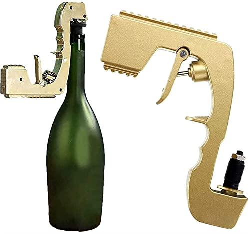 GDYJP Burbujeante Blaster Champagne Pistola Ajustable Champagne Dispensador de Vino Fountain Botella de la Fuente, eyector de Cerveza para la Fiesta de Bodas para el hogar para la Bandeja de la Noche