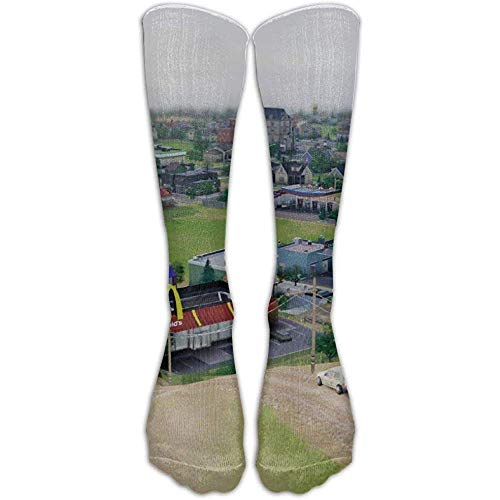 Ginger-Ale Simcity Building Mcdonald'S Athletic Tube Strümpfe Kniestrümpfe Sport Long Sock One Size
