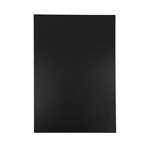 400 x 500 mm 3K Kohlefaser-Platte, einfarbig, matt, 0,5-5 mm dick, 4mm, 1