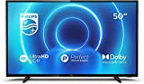 """Philips 50PUS7505 [2020/2021 Model], Smart TV 50"""" LED Ultra HD 4K, Wi-FI, 3x Hdmi, 2x Usb, Ethernet, Dolby Vision, Dolby Audio 2x10W, Freeview Play (50""""/ 126 cm)"""