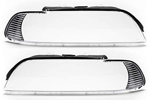 Scheinwerferglas Set Satz Streuscheibe rechts links 5er E39 Facelift
