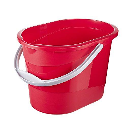 keeeper Putzeimermit ergonomischem Griff, Griffmulde und Ausguss, Oval, 13 l, Thies, Rot