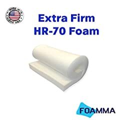 Made In USA Foamma's Premium Quality Extra Firm Upholstery foam Cushion is Ideal for replacing worn dining chair seats pads, stools and more can easily be cut to the required size with a serrated edge or relevant cutting tools can be covered in fabri...