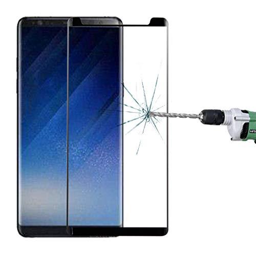 SCREENFILM Für Galaxy Note 8 0.3mm 9H Oberflächenhärte 3D Gewölbter Siebdruck Bildschirm Nicht ausgehärtetem Glas (Schwarz) (Farbe : Black)
