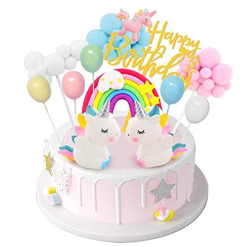 DUOUPA Unicornio Decoración de Tartas Cake Topper Unicornio Decoración de