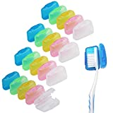 20 Pack Travel Toothbrush Head Covers, V-TOP Portable Toothbrush Caps Case Protector for Home and Outdoor