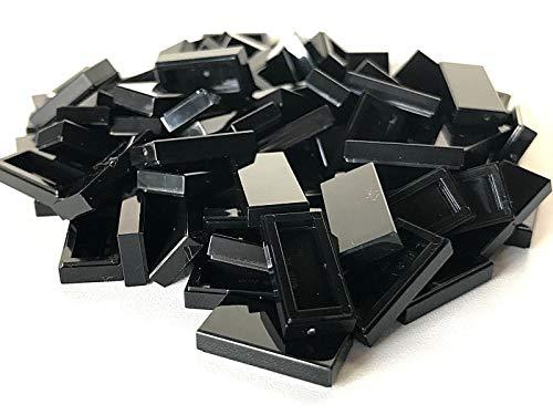 LEGO ® 100 Fliesen 1x2 in schwarz