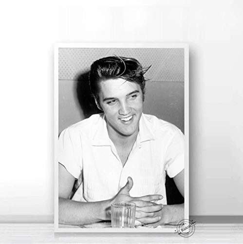CINRYTN Canvas Posters Elvis Presley Poster Gifts Star Musician Painting Canvas Wall Pictures for Living Room Home Decor 50 * 70Cm No Frame