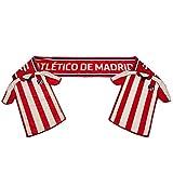 Atletico Madrid FC - Bufanda con equipación en los extremos (174 x 16cm) (Rojo/Blanco)