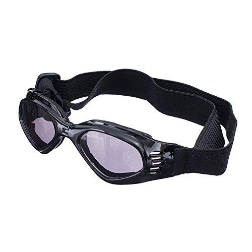 [New Version] CocoPet Cool Dog Goggles Pet Sunglasses Eye Wear UV Protection Waterproof Sunglasses for Dogs Medium (Black)