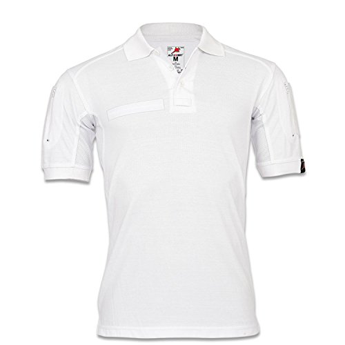Copytec Tactical Poloshirt ALFA weiß Medizin Ambulanz Pflege Berufsbekleidung #22402, Größe:M, Farbe:Weiß