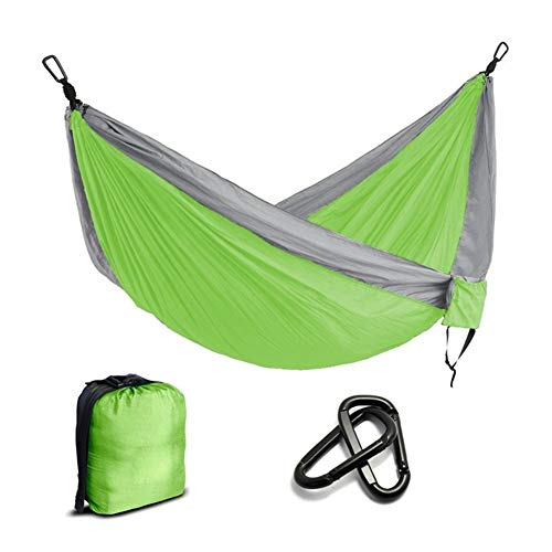 XINGJIJIJIA Highly Portable Nylon Parachute Hammock Camping Survival Garden Hunting Leisure Travel Double Person choice (Color : Lime Green)