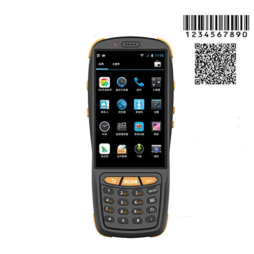 Wenhu PDA Barcode Scanner 1D 2D Bluetooth Android Terminal Portable Robuste PDA sans Fil Mobile 1D Scanner de Code à Barres Data Collector,2Dandchargecradle