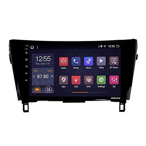 Android 8.1 Reproductor Multimedia Estéreo Para Automóvil Bluetooth Para Nissan Qashqai X-Trail 2012-2018,Pantalla Táctil Capacitiva De 10.1 Pulgadas/GPS/FM/Mirrorlink/SWC/Cámara De Visión Trasera