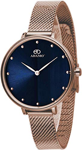 Adamo Analog Blue Dial Women's Watch-335KKM05