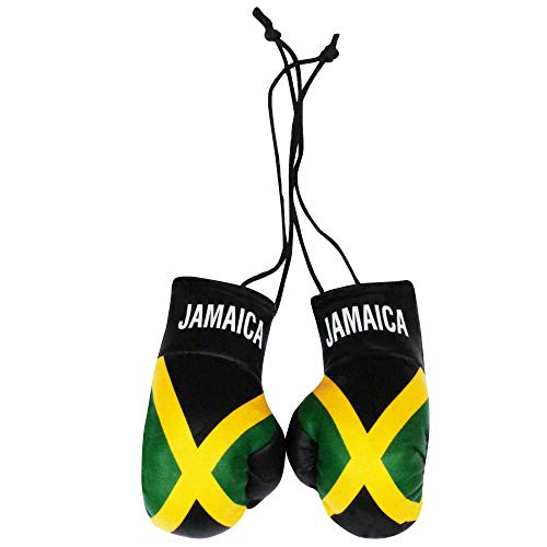 Jamaica Mini Guantes de Boxeo con Bandera Coche o el hogar