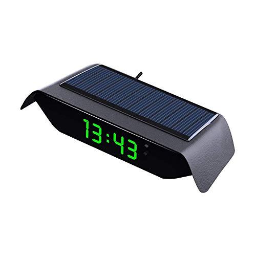 Reloj digital LCD con clip para coche, termómetro digital LED, termómetro de coche, reloj de salpicadero de vehículo, reloj electrónico, aire acondicionado