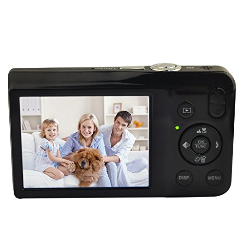 KINGEAR V100 2.7 Inch TFT Color LCD Screen 16MP 720P HD Anti-shake Smile Capture Digital Video Camera with 8X Optical Zoom 4X Digital Zoom-Black