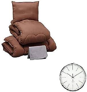 掛け時計付きセット (布団セット シングル 4点セット+掛け時計)