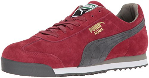 PUMA Men's Roma Basic Sneaker, red Dahlia-Dark Shadow White-Rock Ridge, 9.5 M US