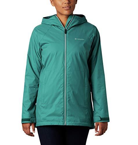 Columbia Damen Switchback Lined Long Jacket w/Waterproof Shell Regenjacke, Wasserfall-/Nachtfutter, Small