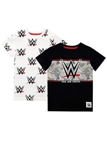 WWE Camiseta de Manga Corta para niños T-Shirt Confezione da Due