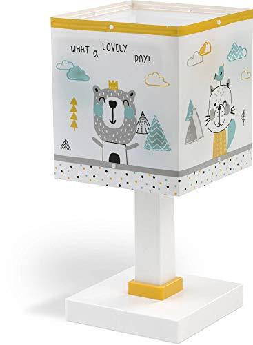 Dalber Kinder Tischlampe Nachttischlampe Kinder Hello Little Tiere Bären