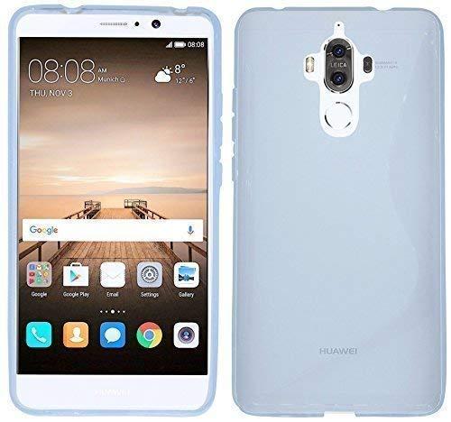 ENERGMiX Silikon Hülle kompatibel mit Huawei Mate 9 S-Line Tasche Case Zubehör Schale in Transparent