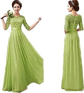 دبلس فستان بوليستر اخضر كاجوال -نساء