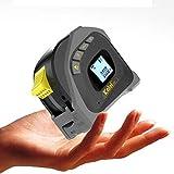 Medidor de Láser Distancia Telémetros Láseres de Línea Medidor Laser Exteriores Distanciometro Cintas Métricas 40m Infrarrojo Mano 5m Carga USB,Yellow