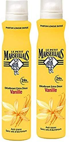 Le Petit Marseillais Déodorant Extra Doux 24 h Lait Vanille Spray 200 ml - Lot de 2