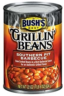 Bush's Best, Grillin' Beans, Southern Pit Barbecue, 22oz Can (Pack of 6)