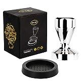 AlphaCoffee Espresso Tamper 51mm inklusive Silikonmatte für Siebträgermaschinen und Espressomaschinen