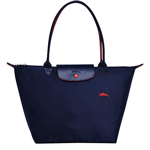 Longchamp Le Pliage Club Große Schultertasche, Marineblau
