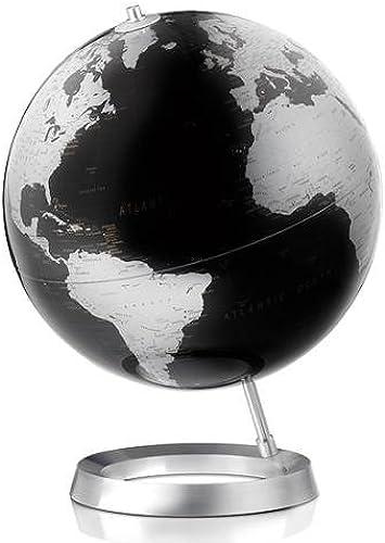 Globus VISION 30cm, Fu lum Weltkarte Schwarzmetallic