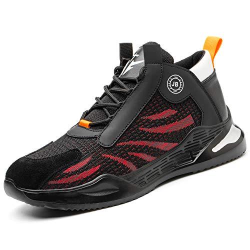 Zapatillas de Trabajo con Punta de Acero Botas de Seguridad Comodas y Ligeras Zapatos de Seguridad Hombre Mujer Transpirables Antideslizante