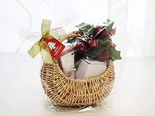 クリスマスギフト 柳バスケット ジルスチュアート ハンドクリーム ウォッシュタオル ミニツリー