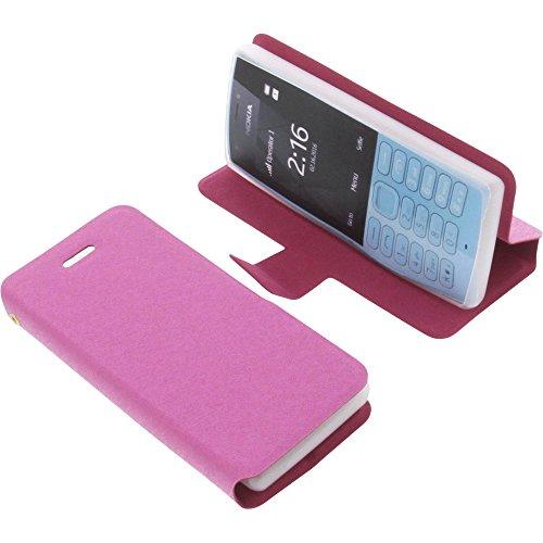 Tasche für Nokia 216 Book Style pink Schutz Hülle Buch